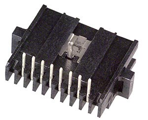 8 Position 1.27mm Pitch Rectangular Male Pin Header 1-104074-0
