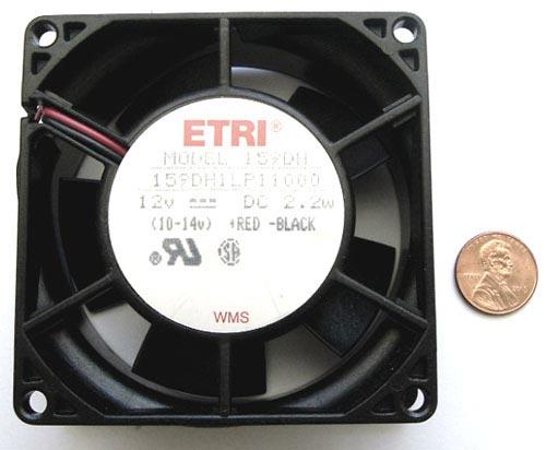 12VDC 2.2W Fan 5 Blades 159DH1LP11000 Etri