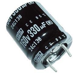 330uF 160V Radial Snap Mount Electrolytic Capacitor Nippon Chemi Con 160VNSN330M