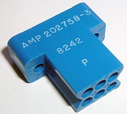 202758-3 Plug Block M Series Connector AMP