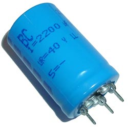 2200uF 40V Radial Snap In Electrolytic Capacitor BC Components® 2222-050-57222