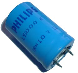 15000uF 10V Radial Snap In Electrolytic Capacitor Philips 2222-058-44153
