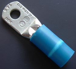 Solderless Crimp Terminal Blue Ring Lug 6AWG Thomas & Betts
