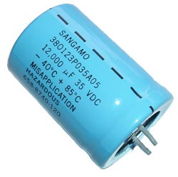 12000uF 35V Radial Snap In Electrolytic Capacitor Sangamo 380123P035A05