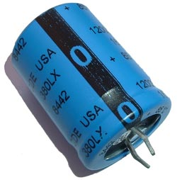 12000uF 16V Radial Snap In Electrolytic Capacitor CDE 380LX123M016H022