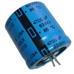 4700uF 63V Radial Snap In Electrolytic Capacitor CDE 380LX472M063K022