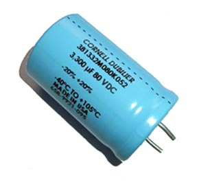 3300uF 80V Radial Snap In Electrolytic Capacitor Cornell Dubilier 381332M080K052