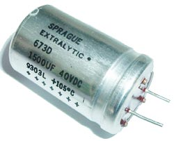 1500uF 40V Radial Electrolytic Capacitor Sprague 673D158H040JJ5C
