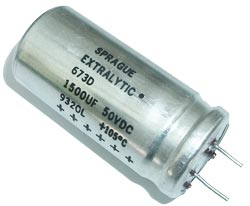 1500uF 50V Radial Electrolytic Capacitor Sprague 673D158H050JL9C