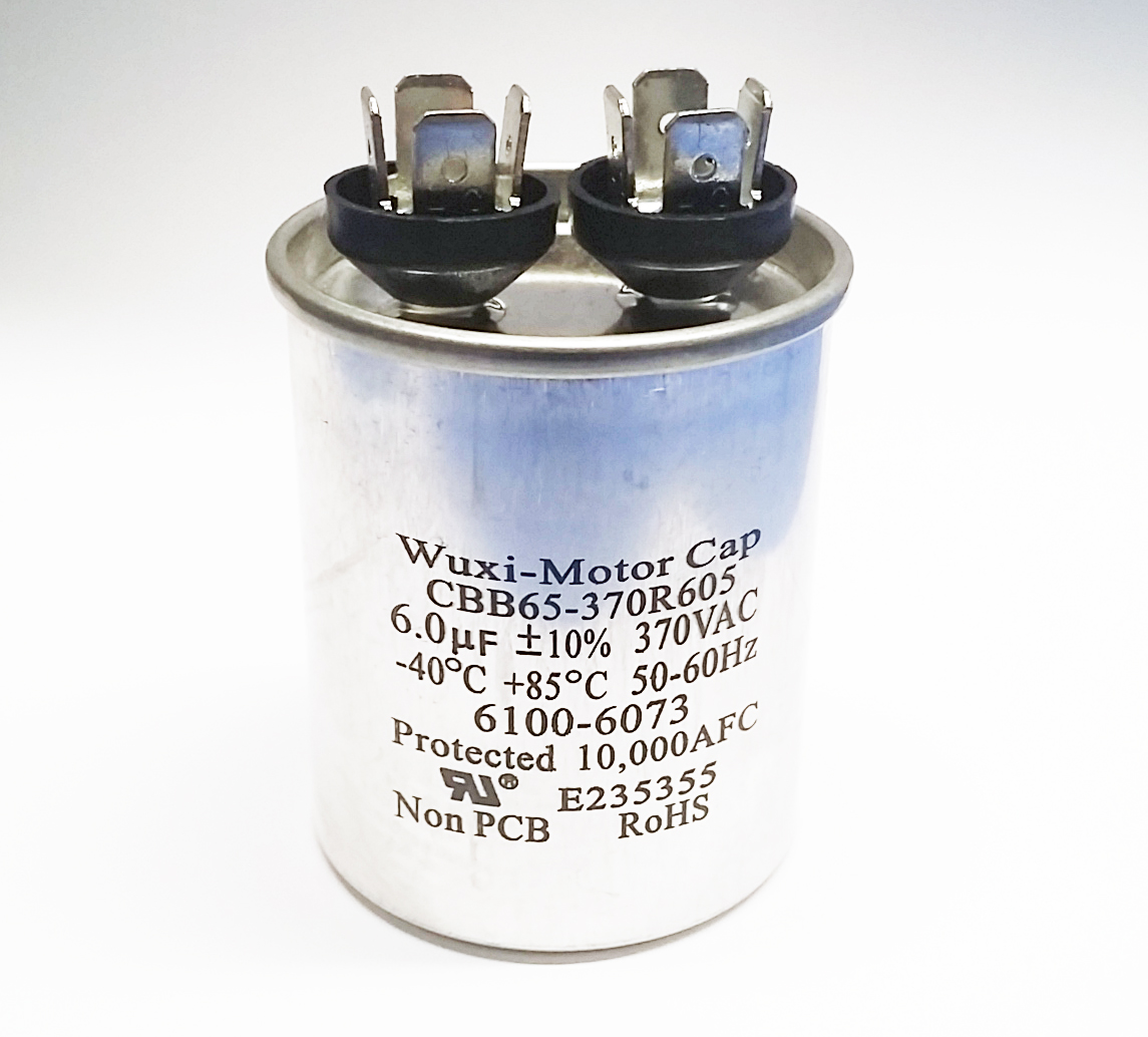 Motor Start Capacitors And Run How Does A Capacitor Work 6uf 370vac Cbb65 370r605
