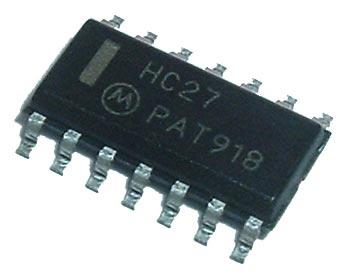 74HC27 MC74HC27 SMT CMOS IC Motorola