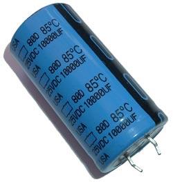 10000uF 25V Radial Snap In Electrolytic Capacitor Nippon 80D103P025JE2D