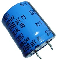 4700uF 25V Radial Snap In Electrolytic Capacitor Nippon 80D472P025JB2D