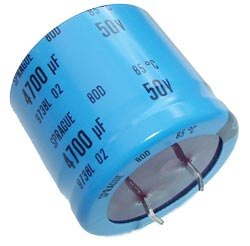 4700uF 50V Radial Snap Mount Electrolytic Capacitors Sprague 80D472P050MB5D