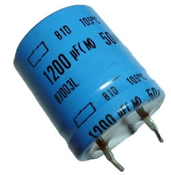 1200uF 50V Radial Snap In Electrolytic Capacitor Nippon 81D Series