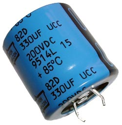 330uF 200V Radial Snap In Electrolytic Capacitor Nippon 82D Series