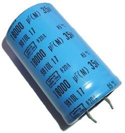 18000uF 35V Radial Snap Mount Electrolytic Capacitor Nippon 82DA183M035KD