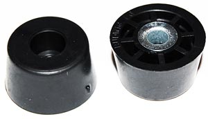 Screw On Rubber Recessed Bumpers Cabinet Feet .437 X .750 In.