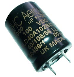 1000uF 100V Radial Snap In Electrolytic Capacitor BHC Aerovox ALC40A102BC100