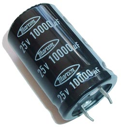 10000uF 25V Radial Snap In Electrolytic Capacitor  Marcon® CEAUF1E103M20