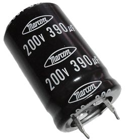 390uF 200V Radial Snap Mount Electrolytic Capacitor Marcon CEAWF2D391M10