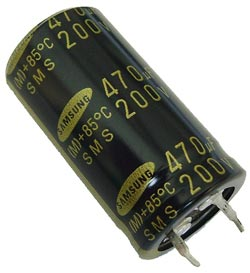 470uF 200V Radial Snap Mount Electrolytic Capacitor Samsung CESM20471M2240TA
