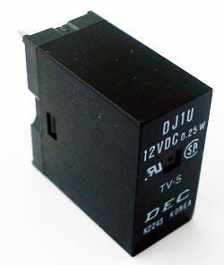 12V 0.25W PCB Mount Relay DJ1U DJ1U 12V TV-5