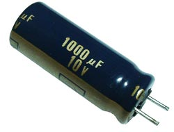 1000uF 10V Radial Electrolytic Capacitor Panasonic EEUFC1A102L