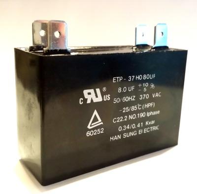 8uF 370VAC Motor Run Capacitor ETP370F805J