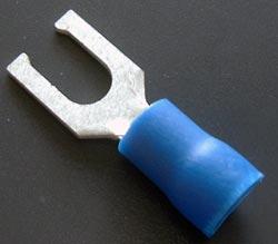 Solderless Crimp Terminal 0.25 Spade Blue Lugs FV1614-4LST
