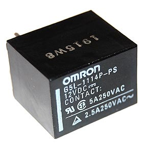 5A 12V PCB Mount Relay Omron G5L-1114P-PS