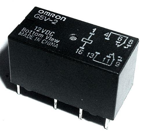 G5V-2-12V Relé PCB 12VDC
