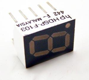 7 Segment LED Display Red Alphanumeric HDSP-F103