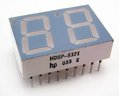 7 Segment LED Display Common Mode Dual Red HD5P-5321