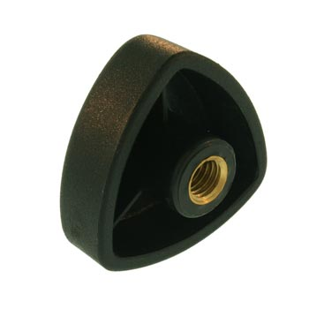 Black Plastic Triangle Industrial Knob Handle