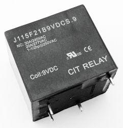 30A 9VDC SPST Relay Sealed CIT J115F21B9VDCS9