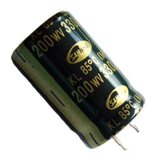 330uF 200V Radial Electrolytic Snap-In Capacitors KL20337M22035
