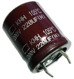 220uf 200v Radial Snap Mount Electrolytic Capacitor Nippon