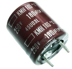 180uF 250V Radial Snap In Electrolytic Capacitor Nippon KMH250VN181M22X25T2