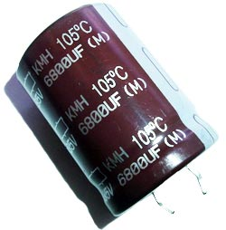 6800uF 35V Radial Snap In Electrolytic Capacitor Nippon KMH35VN682M25X35T2