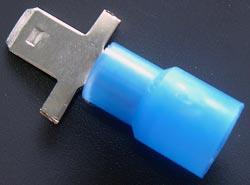 Solderless Crimp Terminals 0.187 Quick Connect Blue Lug M Connectors