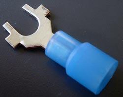 Solderless Crimp Terminals 0.3 Spade Blue Lug Connectors