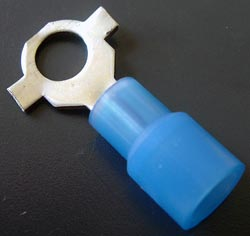 Solderless Crimp Terminals 0.3 Ring Blue Stud 10 Connectors