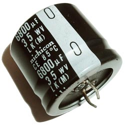 6800uF 35V Radial Snap Mount Electrolytic Capacitor Nichicon LK Series