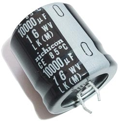 10000uF 16V Radial Snap In Electrolytic Capacitor Nichicon LLK1C103MHSA