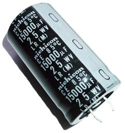 15000uF 25V Radial Snap In Electrolytic Capacitor Nichicon LR Series