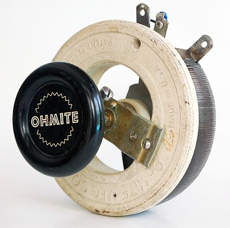 Ohmite rheostat potentiometer