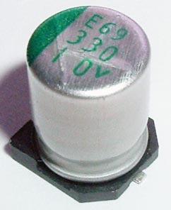 330uF 10V SMT Aluminum Electrolytic Capacitor NSPE331M10V8X10.8TR13