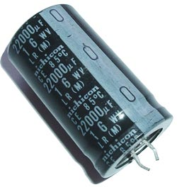 22000uF 16V Radial Snap In Electrolytic Capacitor Nichicon
