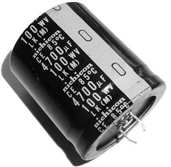 4700uF 100V Radial Snap Mount Electrolytic Capacitor Nichicon